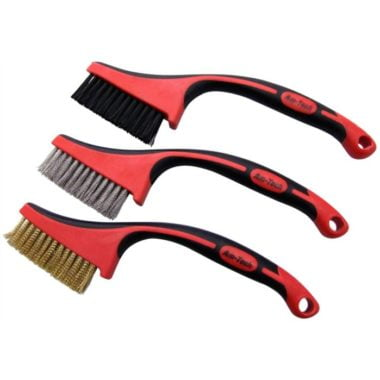 Amtech S3680 Long Handle Wire Brush with Two Tone Grip